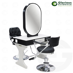 double face makeup mirror (without chairs)