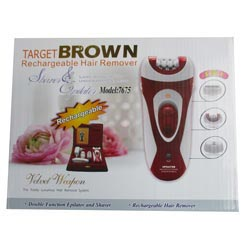 target brown rechargeable hair remover