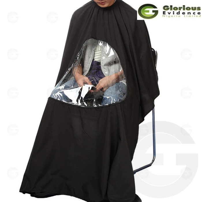 Unique Barber Cape With Transparency