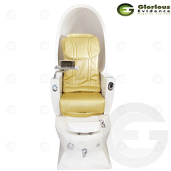 egg pedicure seat (gold)