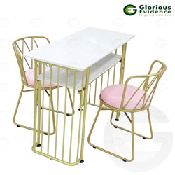 manicure table with chairs 609