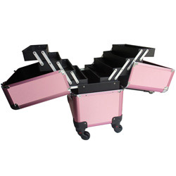 makeup artist cosmetic train case lockable box
