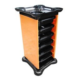 colorful salon rolling trolley cart